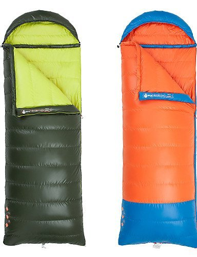 KOE Schlafsack ( Gr¨¹n/Orange ) - Atmungsaktivit?t/Winddicht/warm halten/Videokompression/rechteckig/Kaltes Wetter - Entendaunen/Polyester