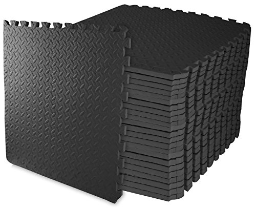 BalanceFrom Puzzle Exercise Mat with EVA Foam Interlocking Tiles (Eva Black Shoes)
