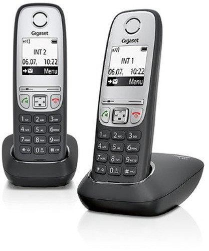 Gigaset A415 Duo Dect-Schnurlostelefon (inkl. 1 zusätzlichen Mobilteil) schwarz
