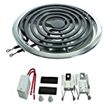 "Whirlpool Terminal Block, 5 Turn 8"" Surface Element and 8'' Chrome Drip Pan"