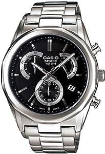 Casio BEM-509D-1AVEF - Reloj analógico de cuarzo para hombre con correa de acero inoxidable, color plateado