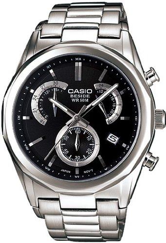394292610593 Casio BEM-509D-1AVEF - Reloj analógico de cuarzo para hombre con correa de  acero inoxidable