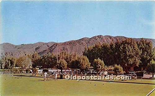 Old Vintage Lawn Bowling Postcard Post Card Bowling Green at Smoke Tree Ranch Palm Springs, California, CA, USA Unused