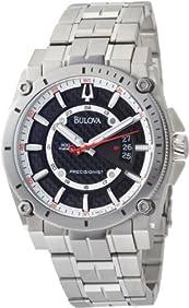 Bulova Men's 96B133 Precisionist Champlain Black Dial Titanium Bracelet Watch