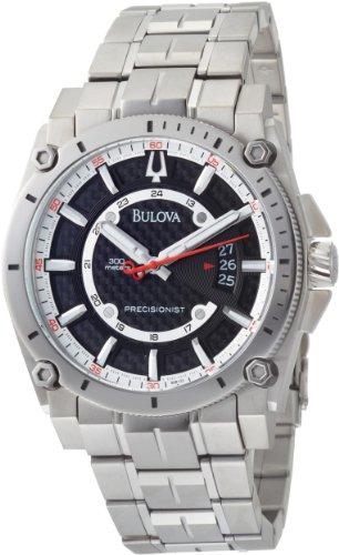 Bulova Men's 96B133 Precisionist Champlain Black Dial Titanium Bracelet Watch Bulova Titanium Mens Bracelets
