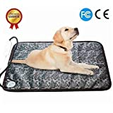 RIOGOO Pet Heating Pad Large, Dog Cat Electric Heating Pad Indoor Waterproof Adjustable Warming Mat with Chew Resistant Steel Cord (28 x17.7 in)