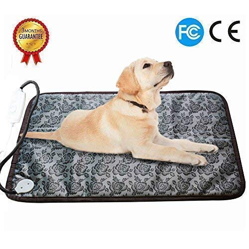 - RIOGOO Pet Heating Pad Large, Dog Cat Electric Heating Pad Indoor Waterproof Adjustable Warming Mat with Chew Resistant Steel Cord (28 x17.7 in)