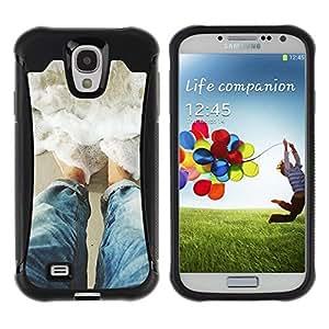 Suave TPU GEL Carcasa Funda Silicona Blando Estuche Caso de protección (para) Samsung Galaxy S4 IV I9500 / CECELL Phone case / / Sun Water Surf Summer Waves /