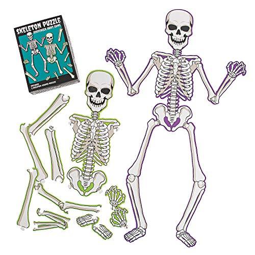 Fun Express Skeleton Scavenger Hunt Game for Halloween - Toys - Games - Outdoor & Travel Game Sets - Halloween - 1