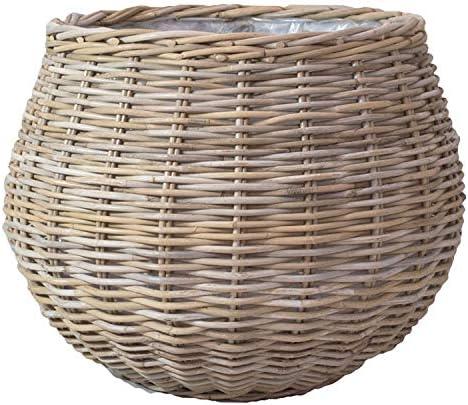 植木鉢カバー 直植可能 籐カゴ ラタンバスケット モンデリック ボールバスケット φ58cm×H43cm 19号