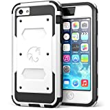 iPhone 5C Case, i-Blason Armorbox for Apple iPhone 5C Dual Layer Hybrid Full-body Protective Case with Front Cover and Built-in Screen Protector and Impact Resistant Bumpers for iPhone 5C (White)