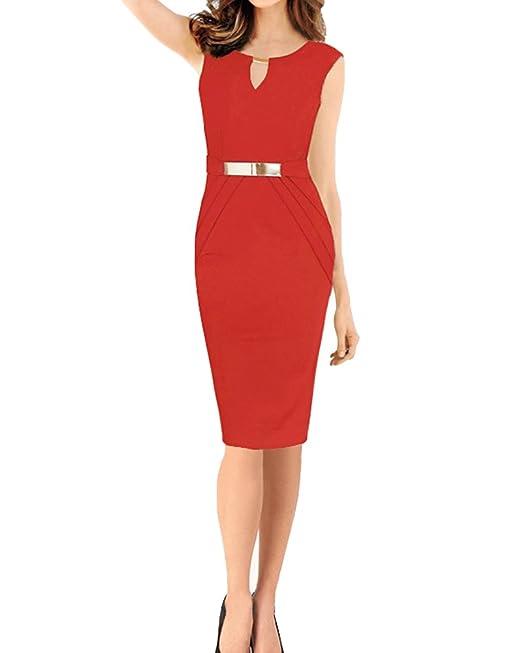 SaiDeng Vestidos Ropa De Mujer Vintage Ajustado Casual Coctel Fiesta Negocios Cortos Bodycon Ropa Vestidos Rojo
