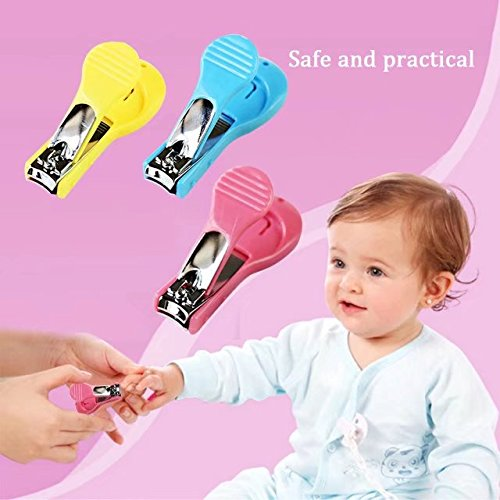 Pack of 3 Baby Sleepy Safety Nail Cutters& Nail Clippers For Newborn Grooming Kit; Perfect Shower (Abc 13 Days Of Halloween)