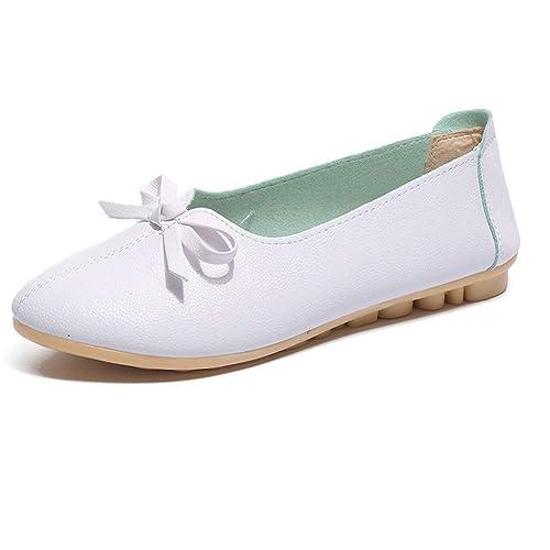 Zapatos Planos para Mujer Zapatos CóModos Deslizamiento En Punta Redonda Mocasines con Lazo Informal Arco Zapatos NáUticos: Amazon.es: Zapatos y ...