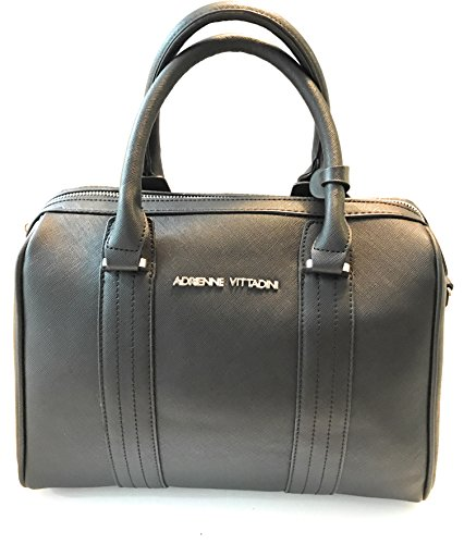 Adrienne Vittadini The Florence Collection Barrel Bag Black
