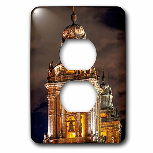 Metropolitan Cathedral - 3dRose Danita Delimont - Churches - Metropolitan Cathedral Steeples in Zocalo, Mexico City, Mexico - Light Switch Covers - 2 plug outlet cover (lsp_258545_6)
