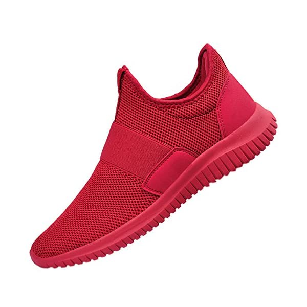 QANSI Mens Sneakers Breathable Lightweight Athletic Shoes Mesh Fashion Sneakers