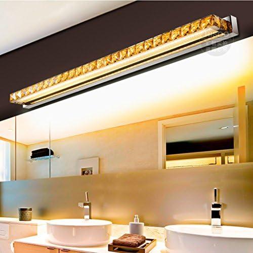 &LED Spiegelfrontlampe Led Spiegel Scheinwerfer, Kristall Spiegelleuchten Badezimmer WC Wasserdichte Edelstahl Wandleuchte Lampe vor dem Spiegel (Color : Warm White)