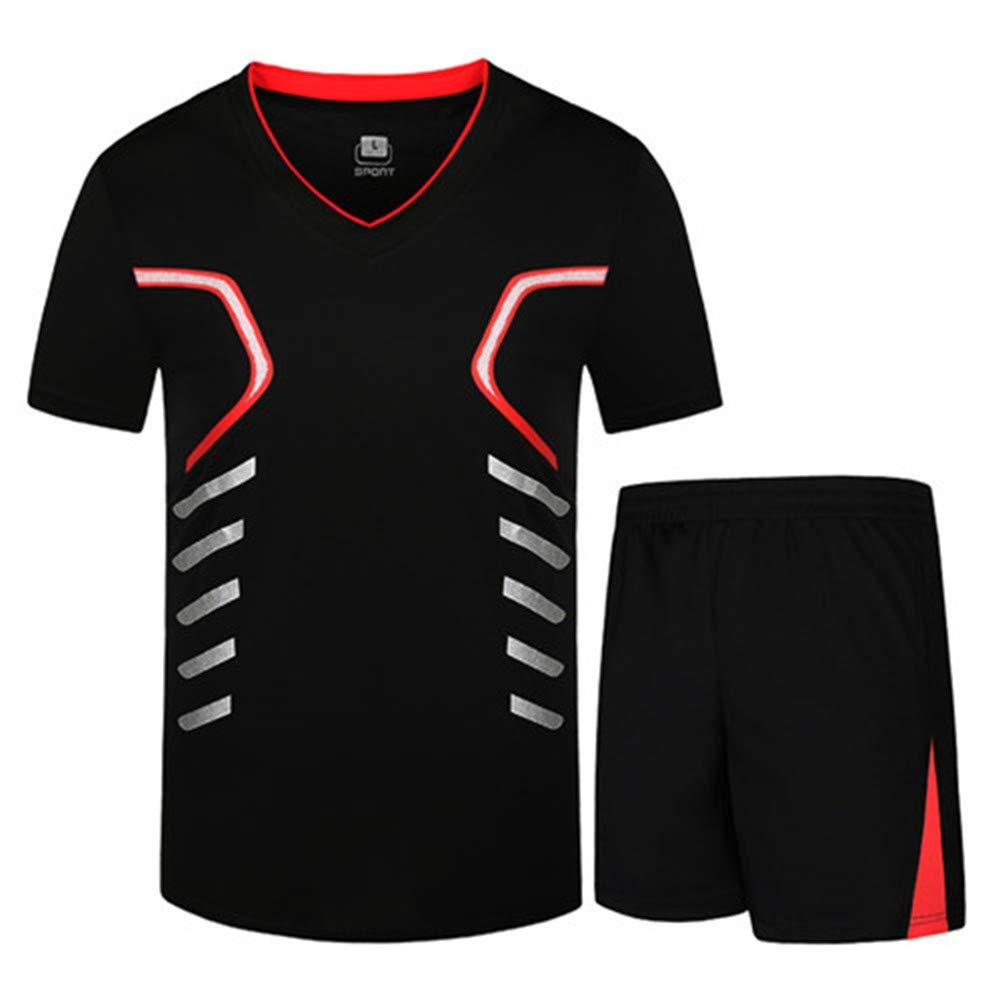 WYX Herren T-Shirt Outwear Sporting Sets Herren Trainingsanzug Tops /& Tee Sommer Schnelltrocknende T-Shirts Sportsuit,a,3XL