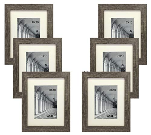 (Studio 500 Distressed Grey Picture Frames from Our Distressed Collection (MDF2915) Grey, 6-Pack, Comes in Different Sizes (8x10))