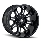 Mayhem Combat Gloss Black/Milled Spokes Wheel with Painted Finish (20 x 9. inches /6 x 135 mm, 18 mm Offset)