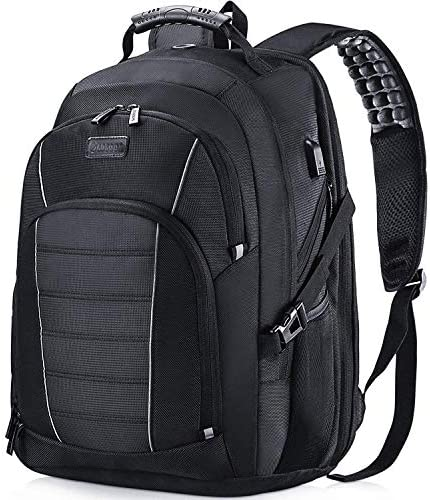 Laptop Backpack, Extra Large 17 Inch Business Travel Backpack with USB Charging Port Earphone Hole, Durable Water Resistant Work Computer Backpack College High School Bags for Men Women Boys