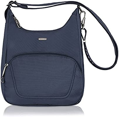 88dac99862c Travelon Anti-Theft Classic Essential Messenger Bag (One Size, Blue -  Exclusive Color)