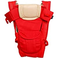 GTC Adjustable Hands-Free 4-in-1 Baby Carrier Bag with Comfortable Head Support & Buckle Straps (Red)