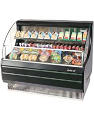 Turbo Air TOM50LB 50 Low Profile Display Merchandiser with Modern Design Attractive Glass Sides Environmental Friendly Refrigeration System Standard Back-Guard and Anti-Rust Coating: