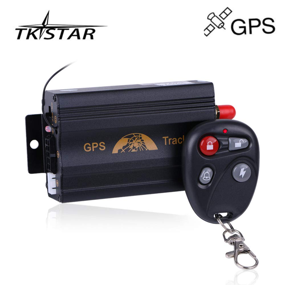 TKSTAR TK103B - Rastreador GPS antirrobo con Mando a Distancia para Coche, GPS gsm GPRS SMS, Sistema de Alarma antirrobo de Seguridad para Coche