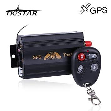 TKSTAR TK103B - Rastreador GPS antirrobo con Mando a Distancia para Coche, GPS gsm GPRS SMS, Sistema de Alarma antirrobo de Seguridad para Coche: Amazon.es: ...