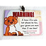 Do Not Touch the Baby 6 x 4 inch Laminated Baby Sign by Cold Snap Studio, Love Bear - HANDMADE in the USA!