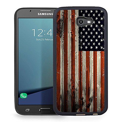 Ftfcase Compatible to Samsung Galaxy J7 2017 Case, J7 2017(AT&T), J7 Sky Pro, J7 Perx case TPU Rubber Gel Design with Samsung Galaxy J7 V 2017 - Wooden Banner