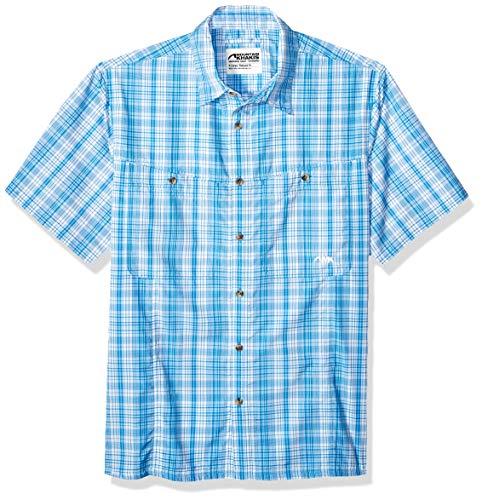 - Mountain Khakis Mens Trail Creek Short Sleeve Shirt: Outdoor Casual Shirt, Azure Plaid, XX-Large