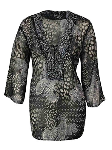 Raviya Womens Printed Embellished Swimsuit