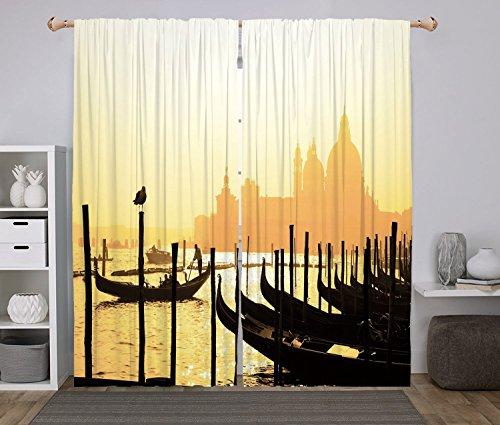2 Panel Set Window Drapes Kitchen Curtains,Venice Romantic I