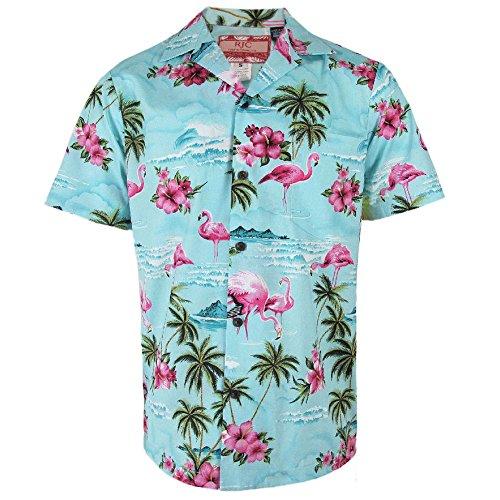Clancey-Blue-Flamingo-Rockabilly-Authentic-Hawaiian-Shirt