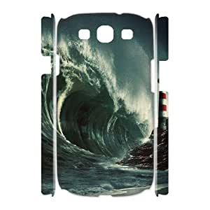 Samsung Galaxy S3 I9300 3D Customized Phone Back Case with ocean wave Image