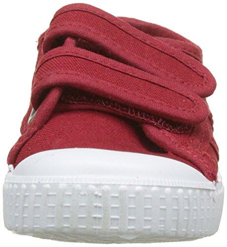 Bambini Sneaker Rosso bordeaux Unisex Velcros Lona Dos Basket Victoria nZWw64YIqc
