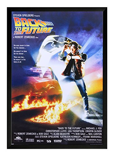 Back To The Future Framed Movie Poster Print 24x36. On a black frame. Made in (Back Movie Poster)