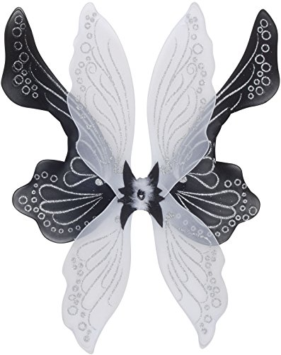 (Loftus International Magical & Mysterious Fairy Wings, Black/White, One)