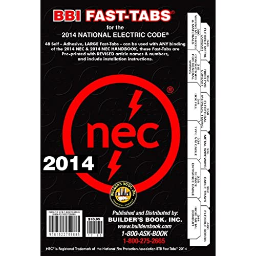 Nec 2014 code book amazon 2014 national electrical code nec fast tabs for softcover spiral looseleaf and handbook fandeluxe Images