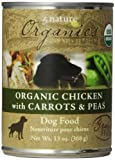 by Nature 392103 12-Pack Organic Chicken with Carrots and Peas Food for Dogs, 13-Ounce