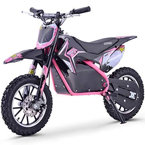Renegade 50R 500W 36V Electric Mini Dirt Bike - Pink