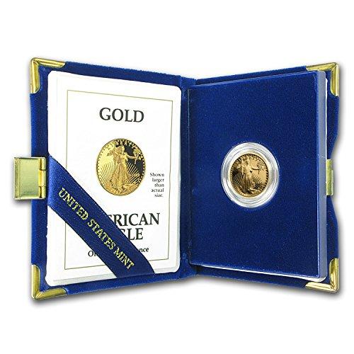 1992 P 1/4 oz Proof Gold American Eagle (w/Box & COA) Gold About (1/4 Oz Proof)