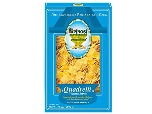 Quadrelli Grandi Egg Noodle by Spinosi (2 Pack)