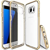 Galaxy S7 Edge Case - Ringke FRAME **Dual-Layer Reinforced TPU Premium Bumper**[Royal Gold] Drop Protection Clear Soft Shock Absorption Protection Bumper for Samsung Galaxy S7 Edge