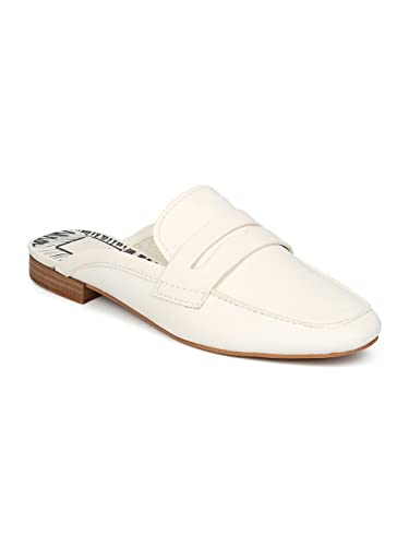 f4c8eef3f80 Dolce Vita Cybil Square Moc Toe Loafer Mule Slide HC56 - Off White Leather  (Size