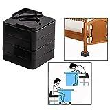 OFKPO 8 Pcs Adjustable Bed Table Furniture Risers Under Bed Storage (Black)