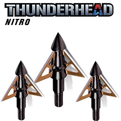 - Thunderhead NAP Nitro Broadhead Fixed Blade 100 Grain 3 Blade Trophy Tip 3 Pack